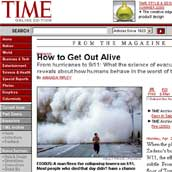 "Time Magazine article, ""How To Get Out Alive"" - April 25, 2005"
